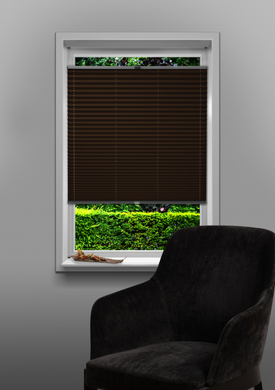Eindhoven Brown Budget pleated blind