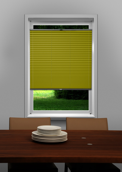 Eindhoven Yellow Budget pleated blind