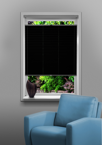 Eindhoven Black Budget pleated blind