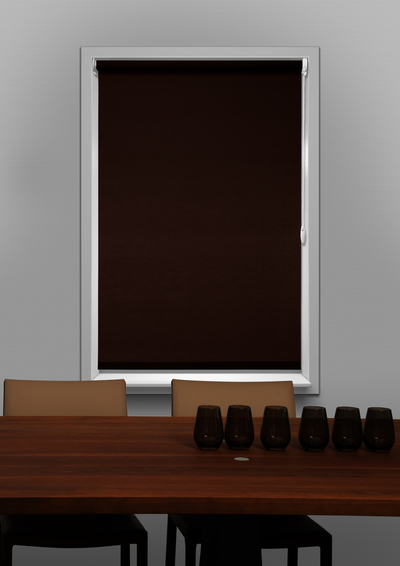 Sevilla Dark Brown Budget roller blind