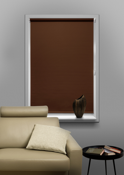 Manga Brown Budget roller blind