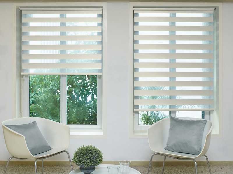 Hanna Brown Deco Day&Night blinds