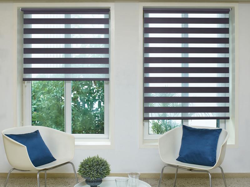 Athena Black Deco Day&Night blinds