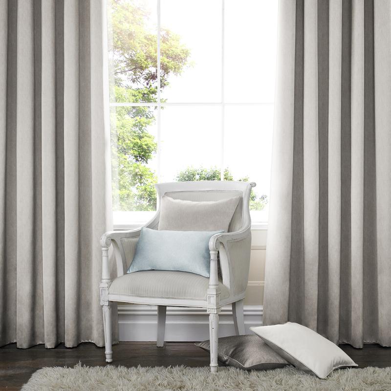 Capri Linen Deco Curtains double pleat