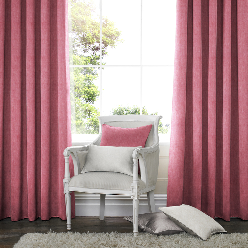 Ascona Blush Deco Curtains double pleat