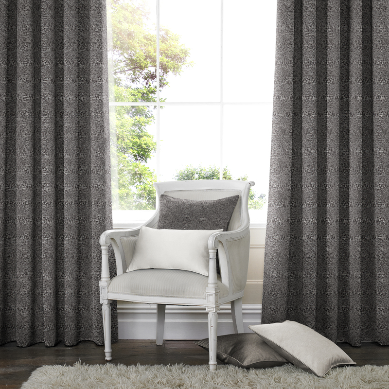 Melania Grey Deco Curtains double pleat