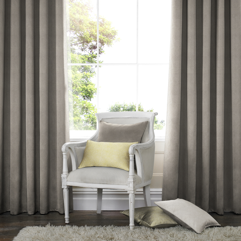 Melania Otter Deco Curtains double pleat