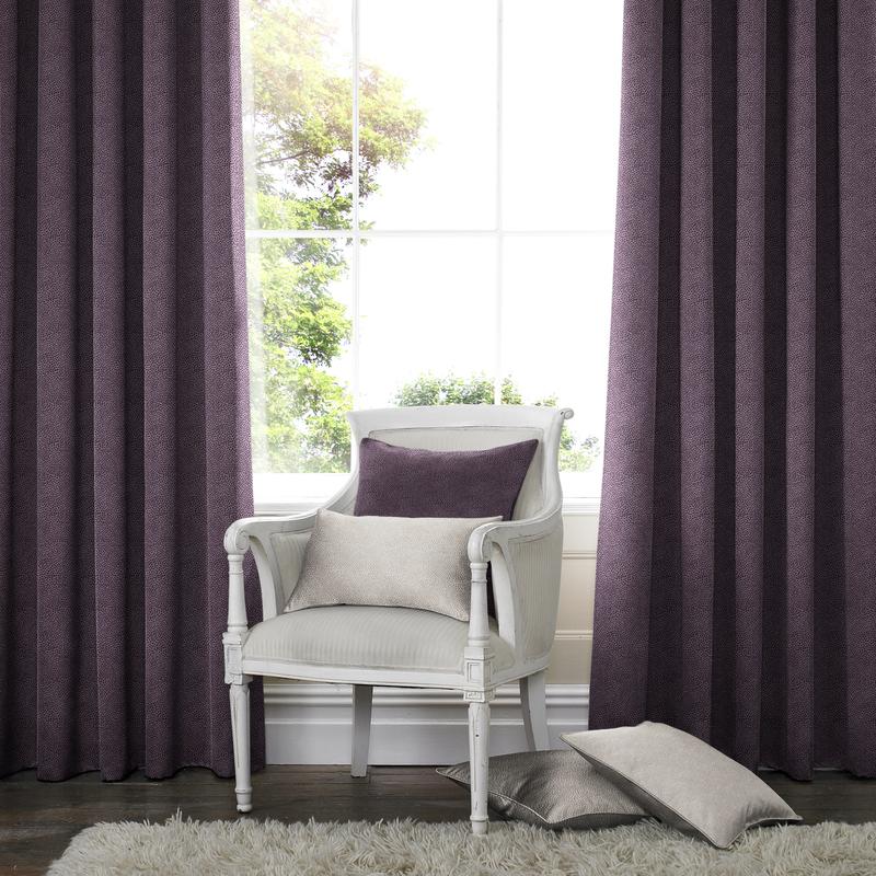 Melania Amethyst Deco Curtains double pleat