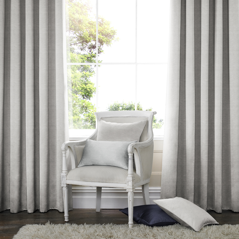 Rully Dove Deco Curtains double pleat