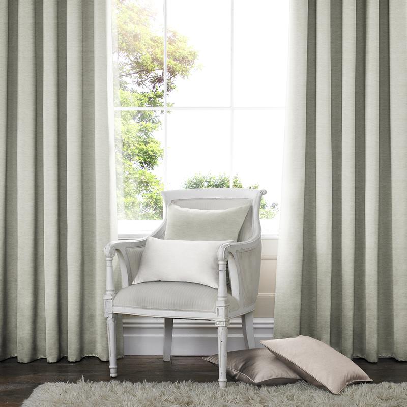 Rully Pistachio Deco Curtains double pleat