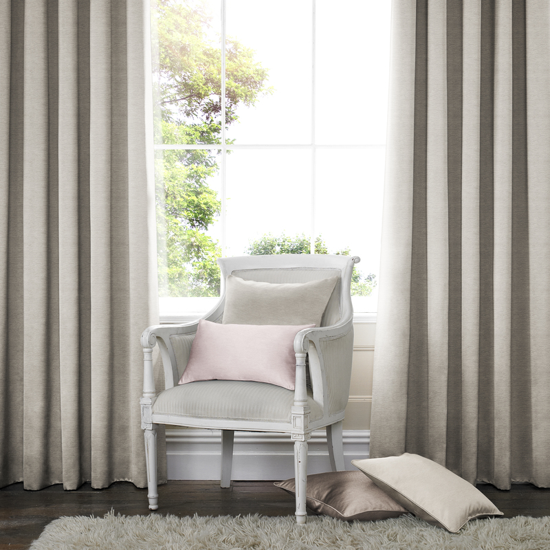 Rully Champagne Deco Curtains double pleat