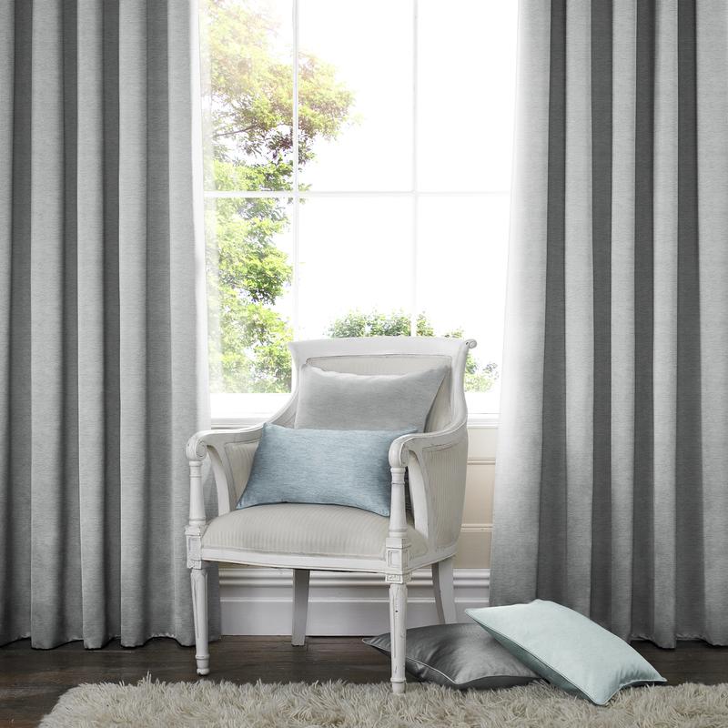 Rully Mist Deco Curtains double pleat