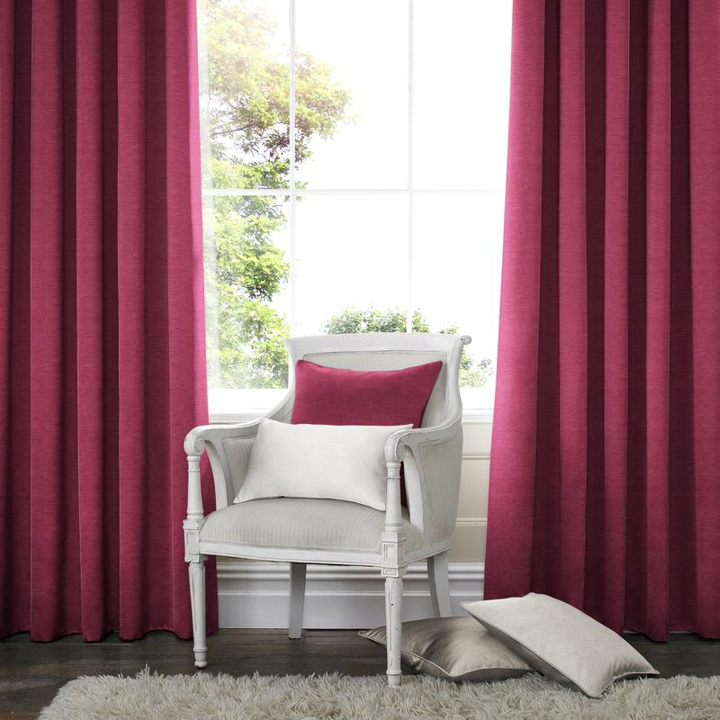 Rully Fuchsia Deco Curtains double pleat