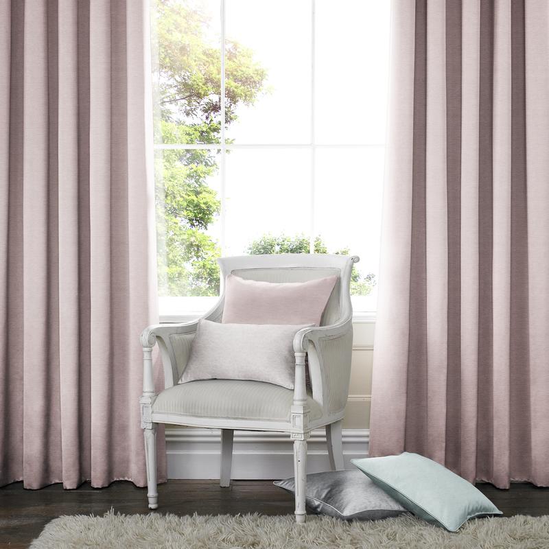 Rully Roze Deco gordijnen  - Dubbele plooi