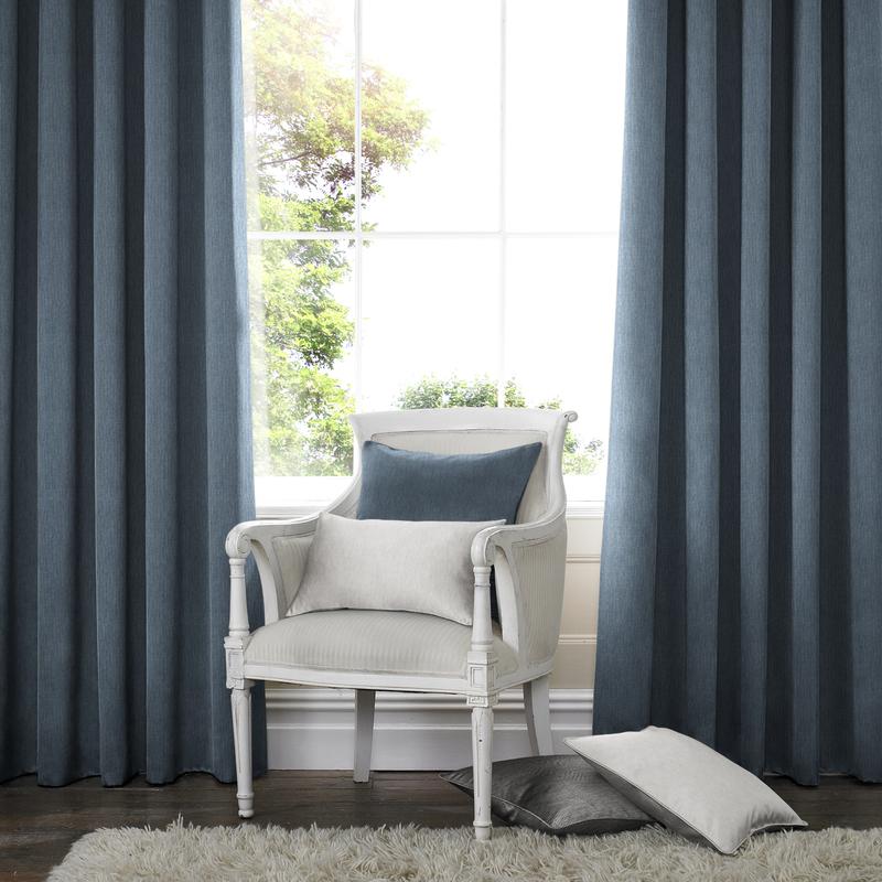Capri Blue Deco Curtain eyelets