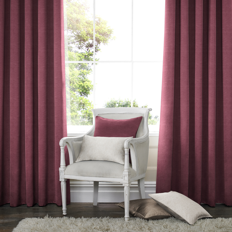 Rully Mulberry Deco Curtain eyelets
