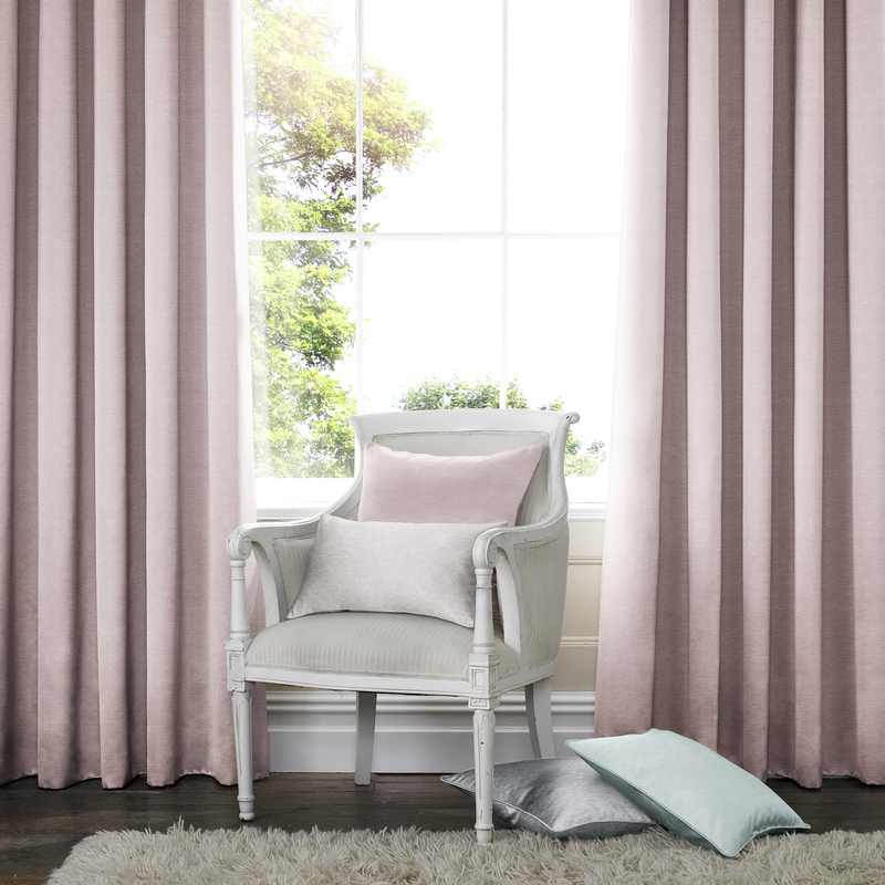 Rully Baby Pink Deco Curtain eyelets