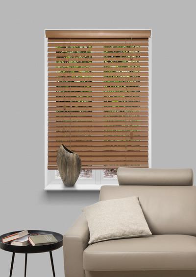 Geelbruin Natural wood 25mm