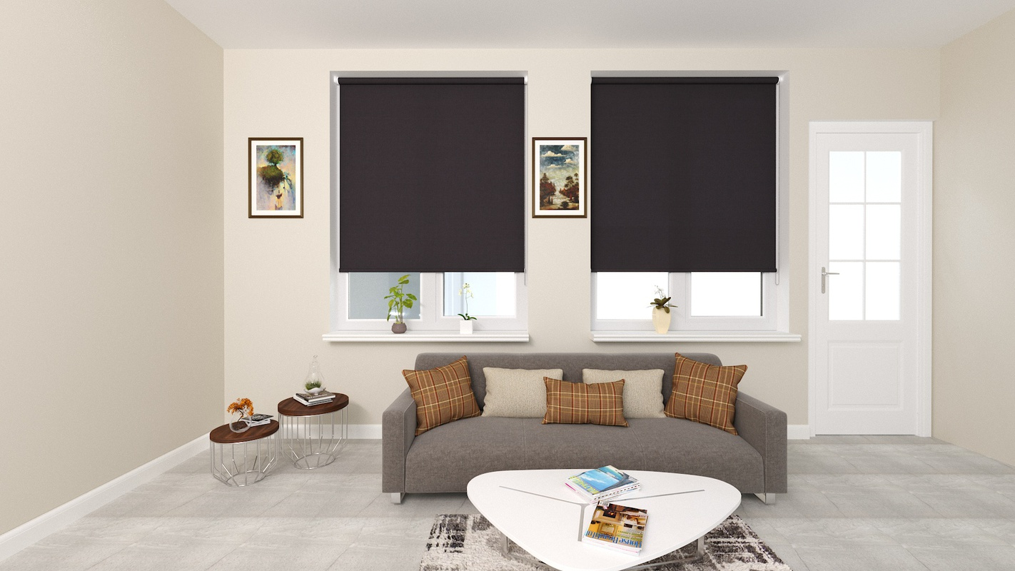 Claire Grey Deco roller blind