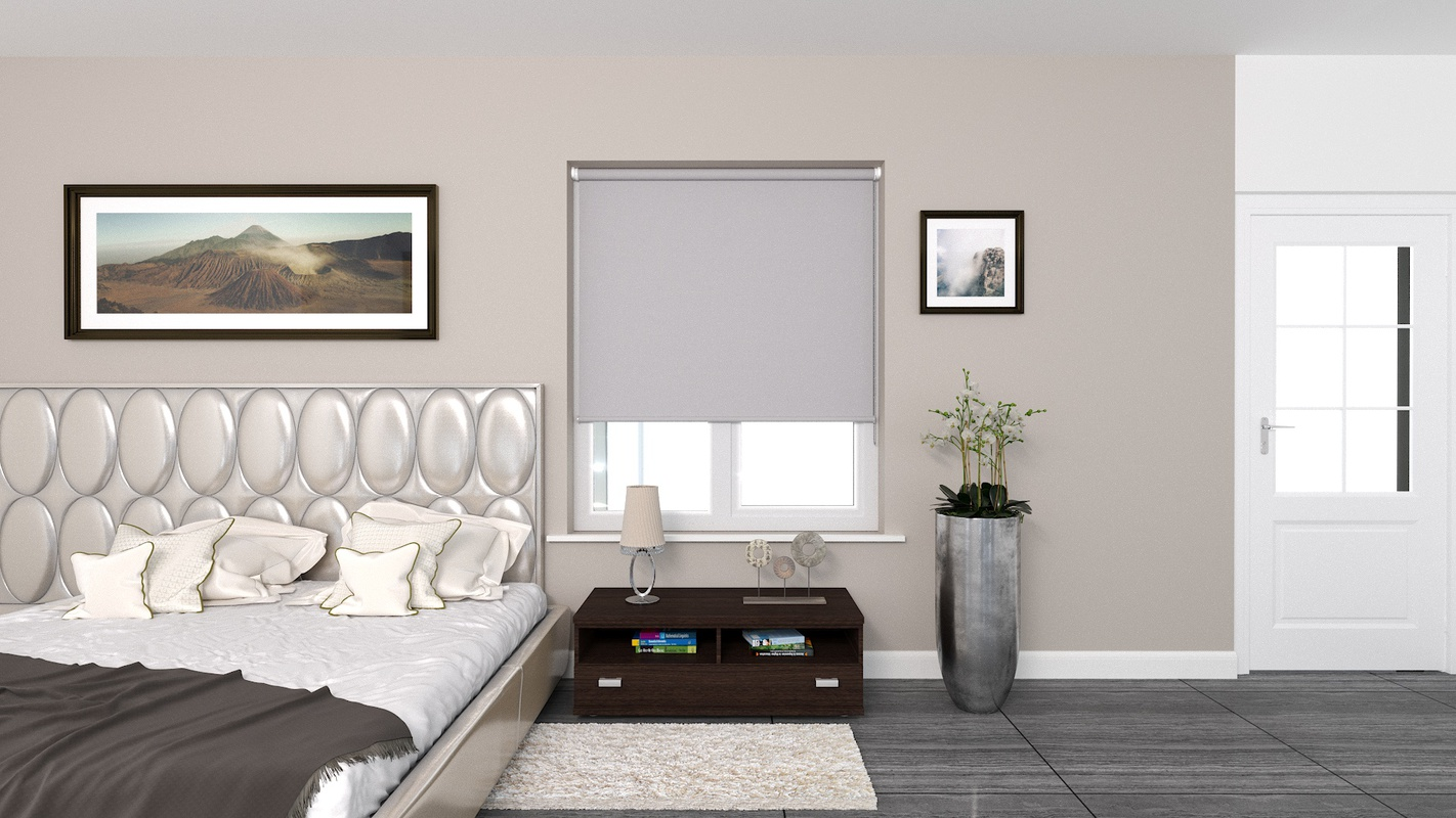 Claire Light Grey Deco roller blind