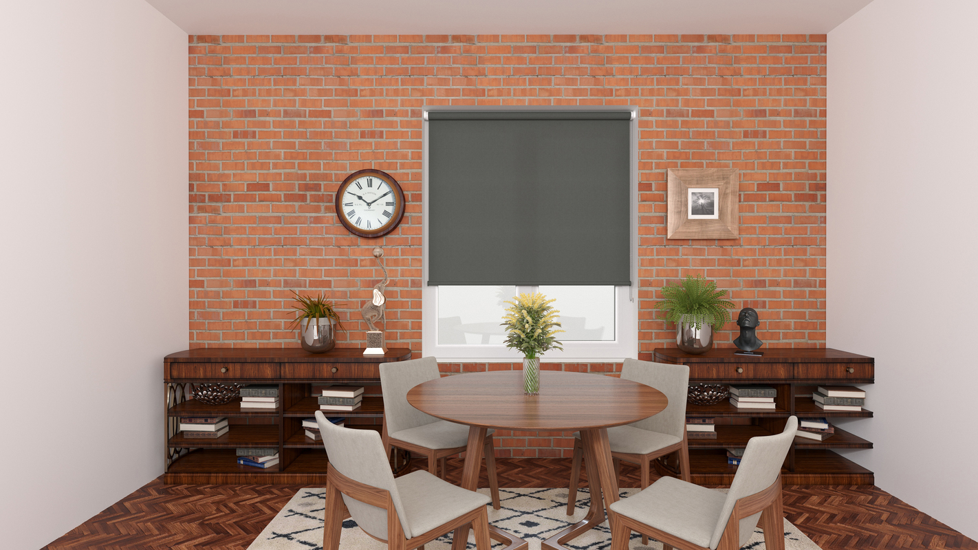 Emily Charcoal Deco roller blind