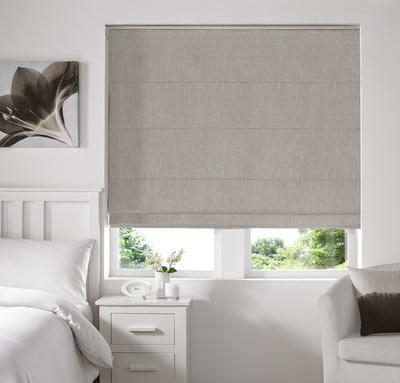 Ascona Ecru Deco Roman blinds