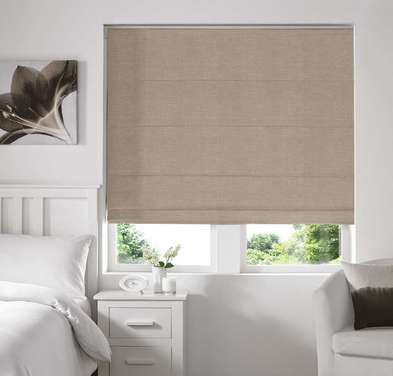 Ascona Beige Deco Roman blinds