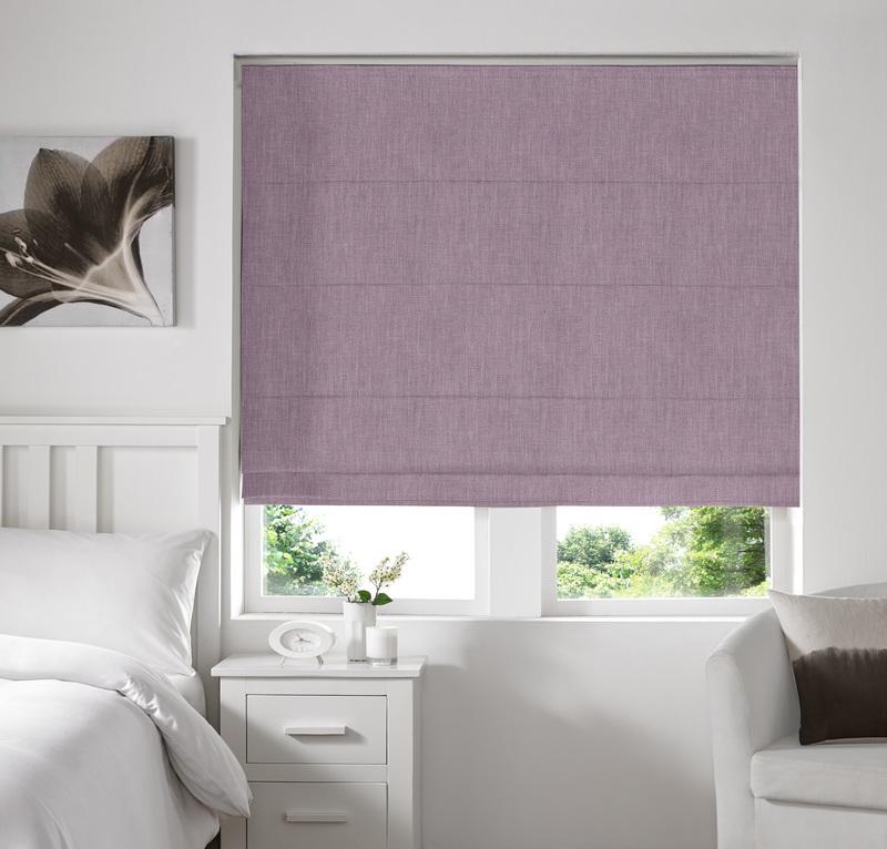Ascona Heather Deco Roman blinds