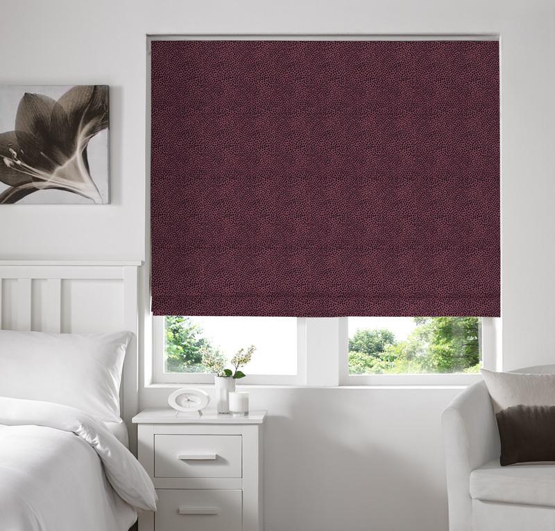 Melania Mulberry Deco Roman blinds