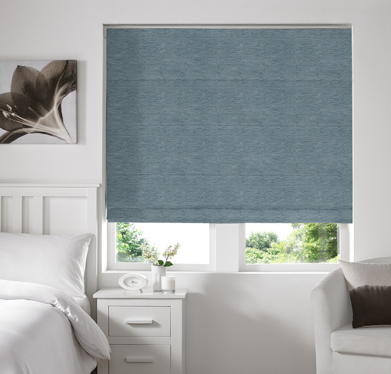 Rully Smoke Deco Roman blinds