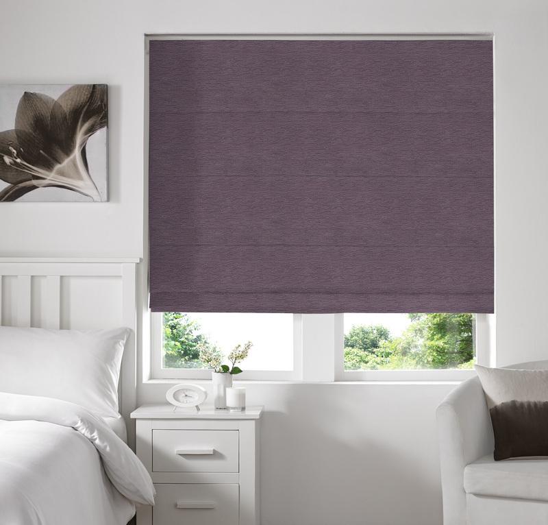 Rully Flint Deco Roman blinds