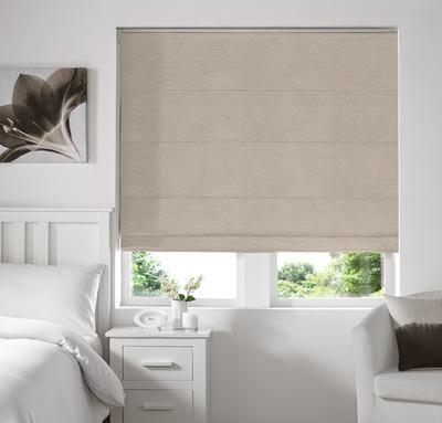 Rully Cream Deco Roman blinds