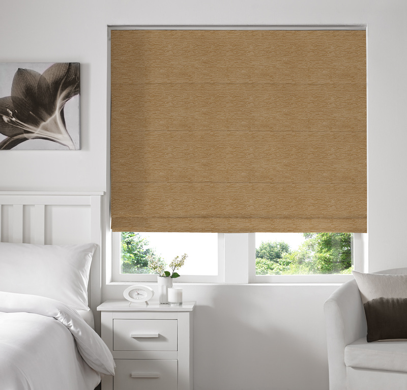 Rully Gold Deco Roman blinds