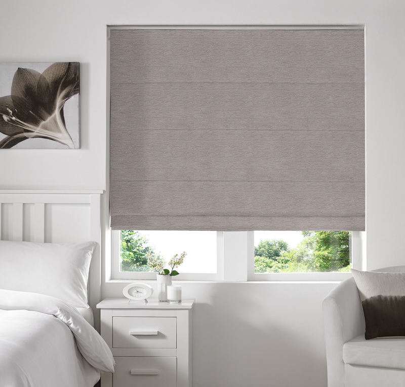 Rully Fog Deco Roman blinds