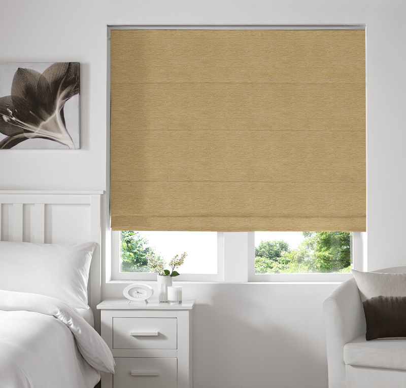 Rully Butter Deco Roman blinds