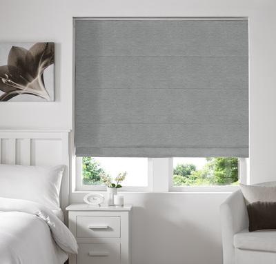 Rully Mist Deco Roman blinds