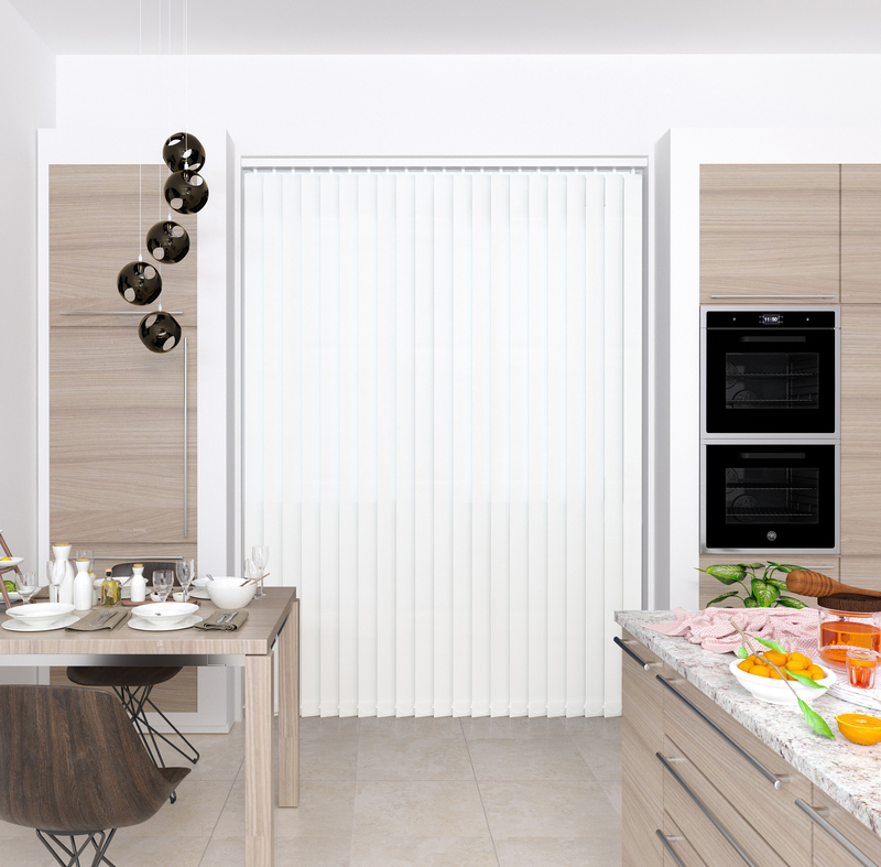 Claire White Deco Vertical Blinds 89mm