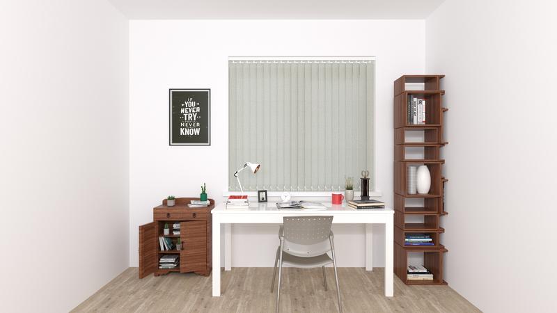 Elena Beige Deco Vertical Blinds 89mm