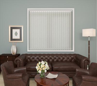 Elena Ivory Deco Vertical Blinds 89mm