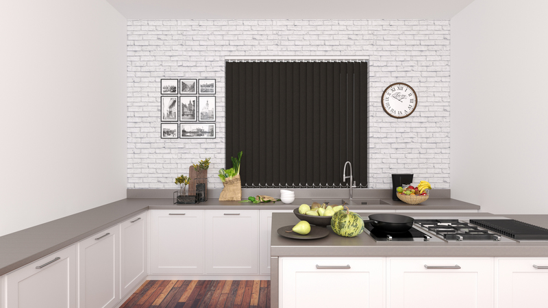 Emma Chocolate Deco Vertical Blinds 89mm