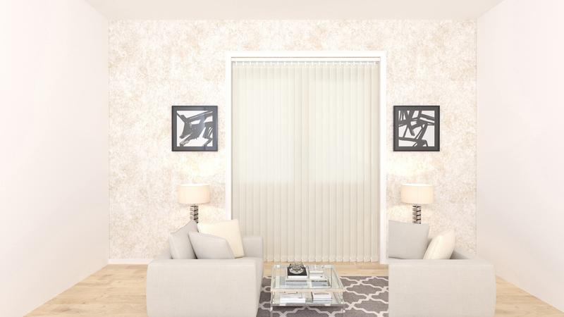 Emma Oyster Deco Vertical Blinds 89mm