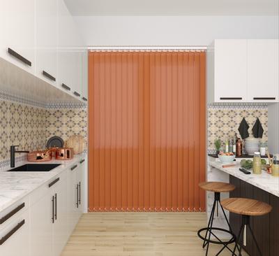 Emma Orange Deco Vertical Blinds 89mm