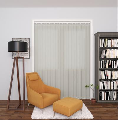 Gianna Cream Deco Vertical Blinds 89mm