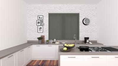 Gianna Dark Grey Deco Vertical Blinds 89mm