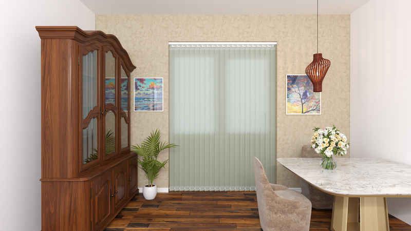 Gianna Grey Deco Vertical Blinds 89mm