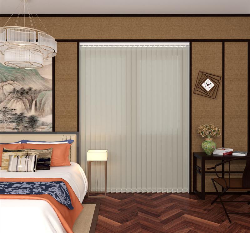 Gianna Linen Deco Vertical Blinds 89mm
