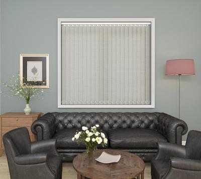 Hazel Ivory Deco Vertical Blinds 89mm