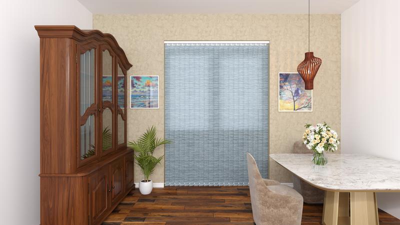 Hazel Blue Deco Vertical Blinds 89mm