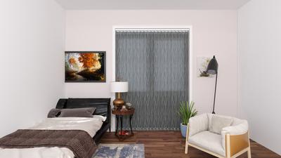 Leah Grey Deco Vertical Blinds 89mm