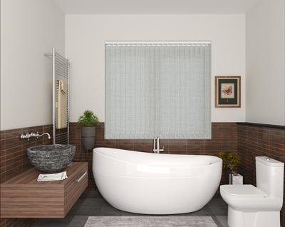 Mila Linen Deco Vertical Blinds 89mm